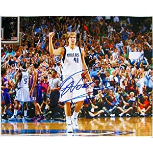 Dirk Nowitzski Autographed Signed Dallas Mavericks vs Raptors 16x20 Photo -... by Sports Memorabilia