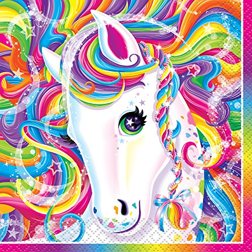 Rainbow Majesty by Lisa Frank Beverage Napkins, 16ct