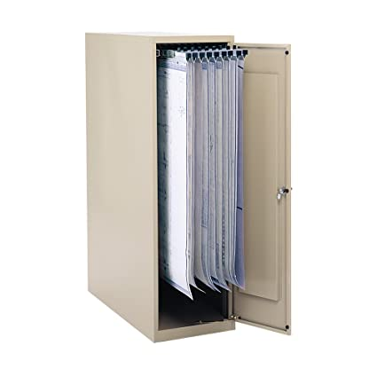 "Safco Office Large Vertical Storage Cabinet for 18"", 24"", 30"" and 36"" Hanging Clamps."