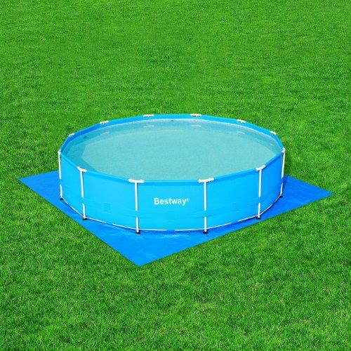 bestway 58002 bodenfolien 396 x 396 cm f r fastset pools 366 kinderpools kinderpools. Black Bedroom Furniture Sets. Home Design Ideas
