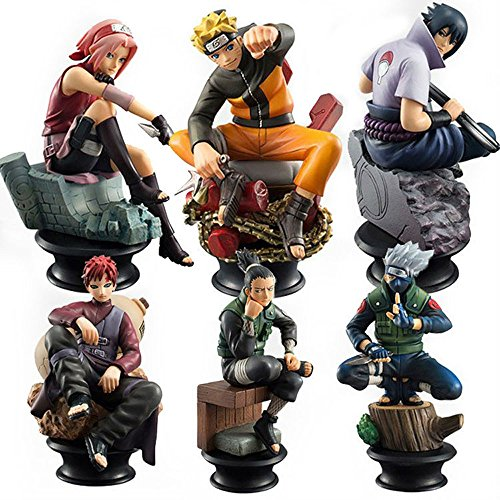 6 PCS / Set Naruto Action Figure High Quality Sasuke Gaara Shikamaru Kakashi Sakura Naruto Anime Toys Collection (Naruto Figures compare prices)