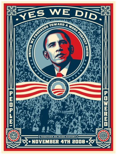 Obama image by Shepard Fairey