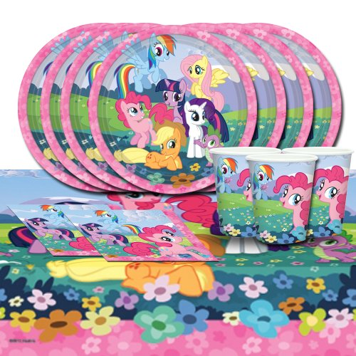 My Little Pony Friendship Children Birthday Complete Party Tableware Pack For 16