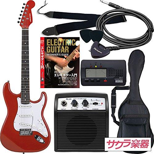 SELDER エレキギター ST-16 初心者入門リミテッドセット /メタリックレッド(9707007382)