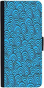 Snoogg Waves Backgrounddesigner Protective Flip Case Cover For Sony Xperia Z1...