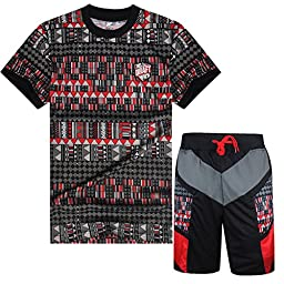 MADHERO Mens Hip Hop Clearance Jersey Ralph Polo Shirts Sports Shorts Bape Suit (Size 2XL Chest 37\
