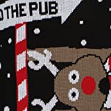 Mens-Womens-To-the-Pub-Reindeer-Novelty-Xmas-Christmas-Sweater-Jumper-Top