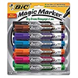 BIC Intensity Advanced Dry Erase Marker, Tank Style, Chisel Tip, Assorted Colors, 12-Count (Color: Assorted, Tamaño: 1 Pack)