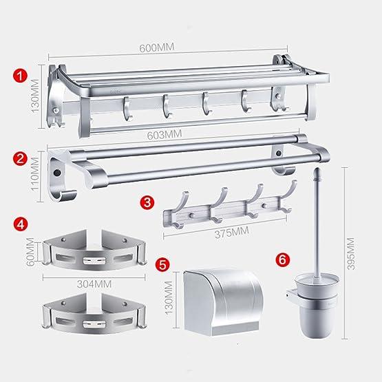 YIXIN Rack da bagno pieghevoli in alluminio Accessori da bagno in rack per doppio tovagliolo ( dimensioni : D )