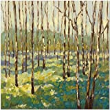 SMART ART - 'Trees in Blue Green' by Libby Smart - Fine Art Print 20x20 inches