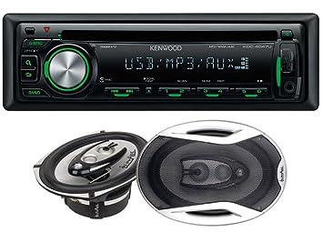 Kenwood KDC-4047UG Autoradio CD/MP3 avec entrées USB/ auxiliaire en façade et système de haut-parleurs 4voies InPhase XTC694 400W