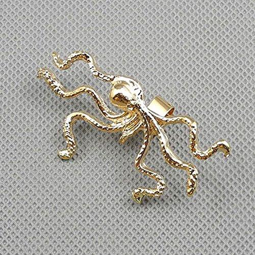 1 Pieces Earrings Ear Earring Supplies Hooks Stud Cuff Clip Punk XF144D Left Side Octopus
