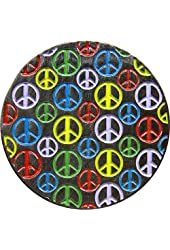Peace Sign - Tons of Little Peace Signs on Circle - Enamel Pin