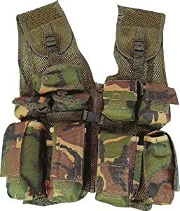 Kids Army Camouflage Assault Vest - Fits Ages 5-14 from KAS