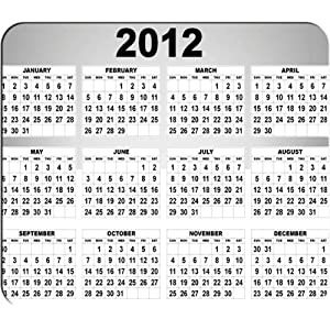 2012 Calendar Mouse Pad
