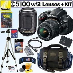 Nikon D5100 16.2MP CMOS Digital SLR Camera with 18-55mm f/3.5-5.6G AF-S DX