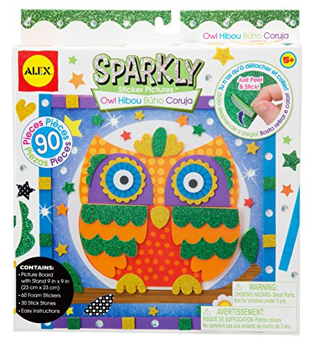 ALEX Toys Craft Owl Sparkly Sticker Pictures Kit - 1