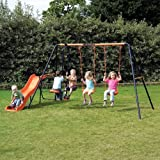 Childrens Garden Swing and Slide Set Headstrom Europa Outdoor Swing