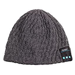 Bluetooth Beanie Hat,Rotibox Winter Outdoor Sport Premium Knit Cap with Wireless Stereo Headphone Headset Earphone Speaker Mic Hands Free for Iphone Samsung Android Cell Phones,Christmas Gifts - Black