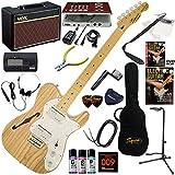 Squier エレキギター 初心者 入門 セミ・ホロウ・ボディのテレキャスター「シンライン」。 ギターの練習が楽しくなるCDトレーナー(エフェクターも内蔵)と人気のギターアンプVOX Pathfinder10が入った強力21点セット V.Modified '72 Tele Thinline/NAT(ナチュラル)