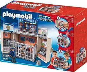 PLAYMOBIL 5421 - Aufklapp-Spiel-Box, Polizeistation