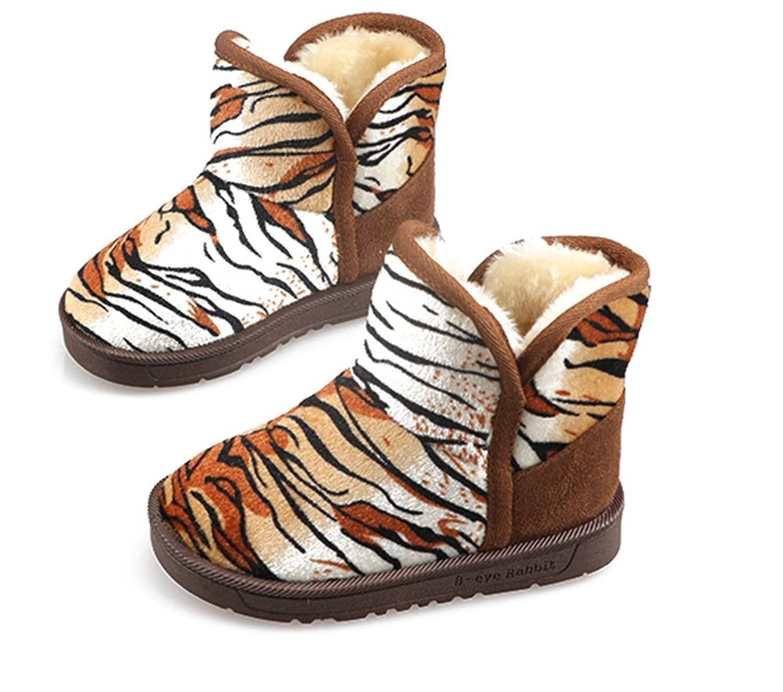 kreativ Leopard Zebra Stripes Winter warm Anti-Rutsch snow boots/Schneestiefel Kinder-Schneeschuhe Jungen Stiefel Mädchenbaumwollstiefel Kinder warmen Baumwollstiefel Fashion Kinder Schuhe günstig