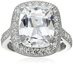 Amazon.com: Platinum-Plated Sterling Silver Cubic Zirconia