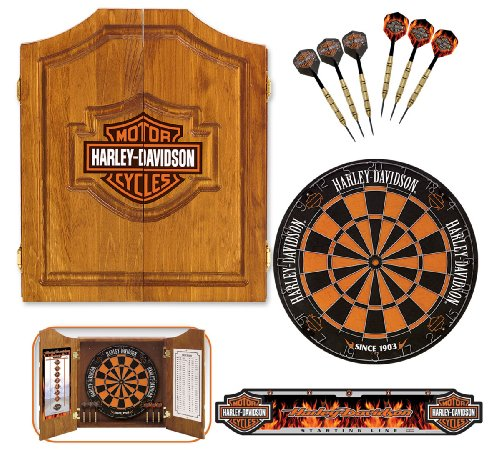 Harley-Davidson 61995 Bar and Shield Dartboard Cabinet Kit at Sears.com
