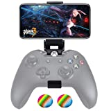 Customized Controller Foldable Mobile Phone Clip Compatible with Xbox One/Steelseries Nimbus/Steam Controllers, Smartphone Clamp Holder Work with iPhone/Samsung/Sony/LG/Huawei (Color: Black)