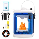 HopeWant Desktop 3D Printer STEAM for design Mini 3D Printer Kit with 250g PLA Filament TF Card High Accuracy 3D Print Education Windows/MAC/LINUX Supported