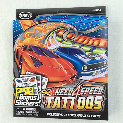 Need 4 Speed Temporary Tattoos and Stickers Kit - 1