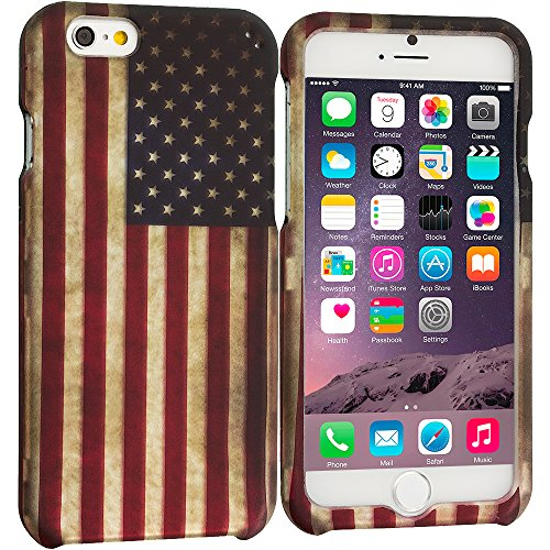 Accessory Planet(Tm) Usa Flag 2D Hard Snap-On Design Rubberized Case Cover Accessory For Apple Iphone 6 Plus (5.5)