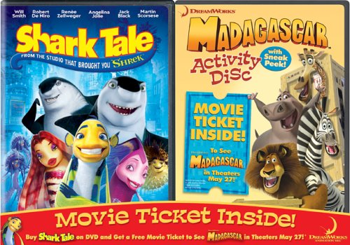 Shark Tale / Madagascar Activity Disc & Movie Ticket 2-Pack (Shark Tales 2 compare prices)