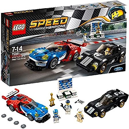 LEGO - 75881 - Speed Champions -  Jeu de Construction - Ford GT 2016 & Ford GT40 1966