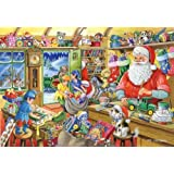 2010 Christmas Edition No.5 500 Piece Jigsaw Puzzle - Santa's Workshop