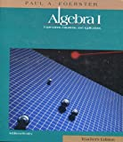 Algebra I, 1994 (0201860953) by Paul A. Foerster