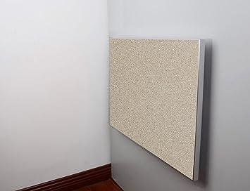 HWF Mesa plegable de pared Mesa plegable Mesa de comedor Mesa de estilo europeo Escritorio Aleación de aluminio Borde Plata gris Champagne Color Blanco Tamaño Opcional ( Color : Champagne Color , Tamaño : 80*55cm )
