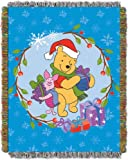 Disney, Winnie the Pooh, Home Made Holiday 48-Inch-by-60-Inch Acrylic Tapestry Throw by The Northwest Company