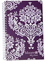 2015 Calendar Year bloom Daily Day Planner Fashion Organizer Agenda January 2015 Through December 2015 Purple Damask