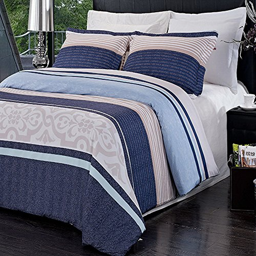 3pc Modern Contemporary Navy Blue Mens Boys Bedding Duvet Cover Set King/Cal/King (Extra Large King Size Duvet Cover compare prices)
