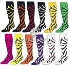 TCK Zebra Stripe Over the Calf Socks