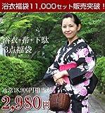 浴衣3点セット福袋 浴衣 女 セット 女性 レディース ゆかた ユカタ yukata プレタ デビュー 通販 販売 激安