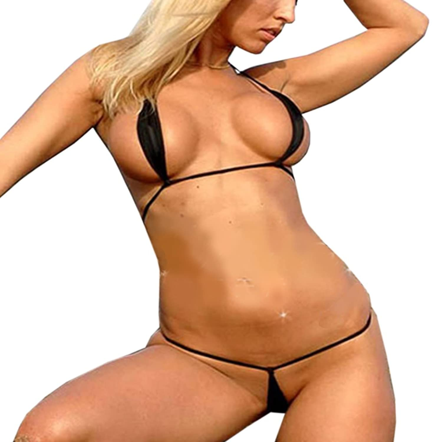 Blonde Sexy Model with sexy gstring bikini