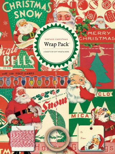 Cavallini Papers 4-Sheet Wrap Pack, Vintage Christmas 0