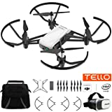 Tello Quadcopter Drone with HD Camera and VR Powered by DJI Technology Starter Bundle With Carry Case And VR Goggles Headset