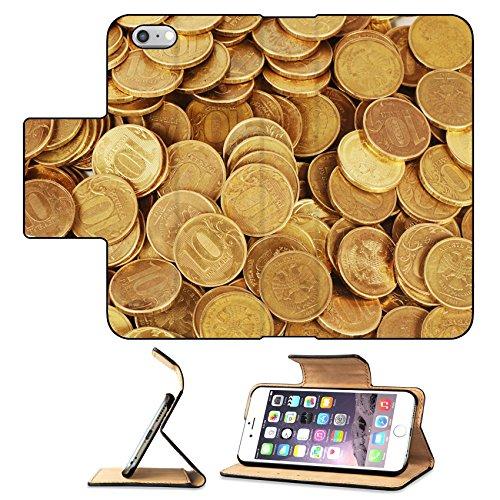 Luxlady Premium Apple iPhone 6 Plus iPhone 6S Plus Flip Pu Leather Wallet Case Gold money stack close up Business concept IMAGE 35646390
