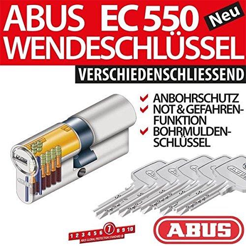 ABUS-Profilzylinder-Zylinder-Trzylinder-EC550-EC-550-inkl-5-Schlssel-verschiedenschliessend-inkl-ToniTec-CodeCard