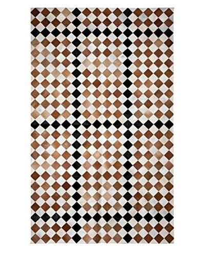 Darya Rugs Natural Cowhide Rug, Brown, 5' x 8'