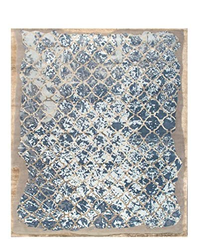 """nuLOOM One-of-a-Kind Hand-Knotted Stacia Rug, Grey, 8' 3"""" x 10' 3"""""""