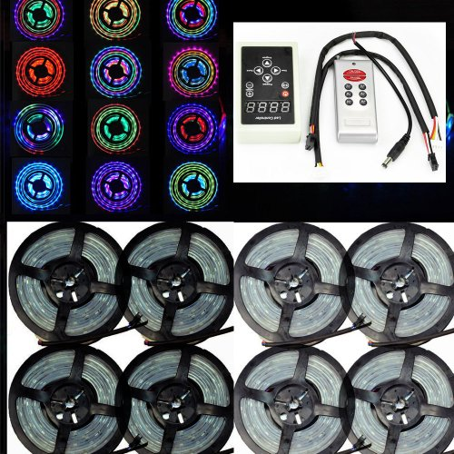 Siga® Express Shipping 40M 8X5M 5050 Tube Waterproof Rgb Dream Color 6803 Ic Led Strip Light 133 Color Change + Rf Rmote Controller Express 3-7 Days Arriival